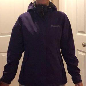 Marmot Small purple shell hooded coat.